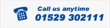 Call us on 01529 302111